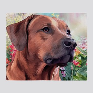 Rhodesian Ridgeback Painting Throw Blanket
